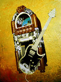 Jukebox and guitar Royalty Free Stock Photo