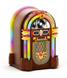 Jukebox isolated on white background. 3D illustration.  royalty free illustration