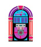 Jukebox Music Player. Vintage jukebox music player for fifties theme vector illustration