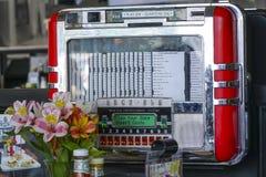 Jukebox at an original American Diner - LOS ANGELES - CALIFORNIA - APRIL 20, 2017. Jukebox at an original American Diner - LOS ANGELES - CALIFORNIA Royalty Free Stock Photos