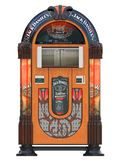 Jukebox rockola music machine. From a bar isolated 3d rendering royalty free illustration