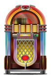 Jukebox on white. An amazing colorful illustration of music sound box Stock Image