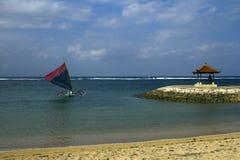 Jukung航行,巴厘岛 图库摄影