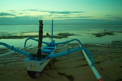 Jukung Tradycyjna łódź zdjęcie stock