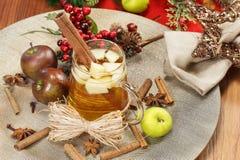 Juläppeljuice Arkivbild