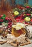 Juläppeljuice Royaltyfri Foto