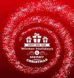 Julönskaen med magisk dammlyx blänker bakgrund Royaltyfri Foto