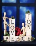 Jul älskar, glädje och fred Royaltyfri Foto