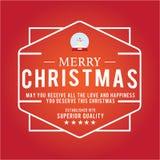 Jul är emblemtemat Garneringbeståndsdelar Arkivfoto