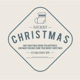Jul är emblemtemat Garneringbeståndsdelar Royaltyfri Bild