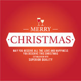 Jul är emblemtemat Garneringbeståndsdelar Royaltyfria Bilder