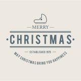 Jul är emblemtemat Garneringbeståndsdelar Royaltyfri Fotografi