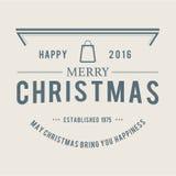 Jul är emblemtemat Garneringbeståndsdelar Royaltyfri Foto