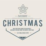 Jul är emblemtemat Garneringbeståndsdelar Royaltyfria Foton