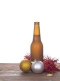 Jul öl, struntsaker och glitter 1 livstid fortfarande Royaltyfri Foto