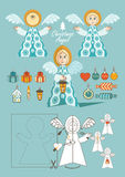 Jul Angel Toy royaltyfri illustrationer