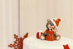 Jul bakar ihop med kräm Royaltyfria Foton