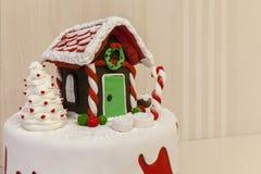 Jul bakar ihop med kräm Arkivbilder