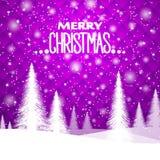 Jul bakgrund för ` s för nytt år, i purpurfärgade signaler Geometrisk prydnad vektor illustrationer