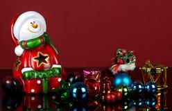 Jul bakgrund och Santa Claus Arkivbild