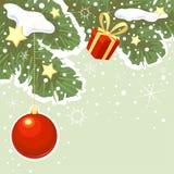 Jul bakgrund, vektorteckning royaltyfri illustrationer