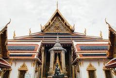 Facade of main hall of Wat Phra Kaew - Emerald Buddha Temple Ba stock photography