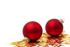 Jul Bauble och stjärnor Royaltyfri Fotografi