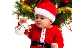 Jul behandla som ett barn Arkivfoto