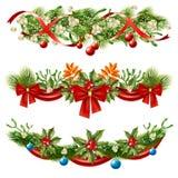 Jul Berry Branches Decoration Set Arkivbilder