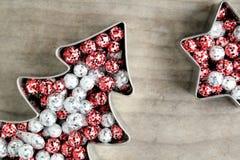 Jul blänker bollar, Royaltyfria Bilder