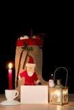 Jul bokstav för Santa Claus Royaltyfri Foto