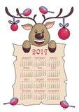 Jul calendar 2017 Royaltyfri Bild