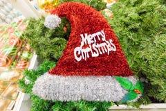 Jul cap med glad jul Arkivfoto