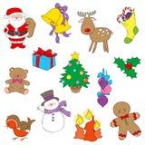 Jul Clipart vektor illustrationer