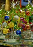 Jul Crystal Tree Royaltyfri Foto