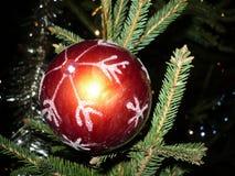 Jul decoratived boll Arkivfoto