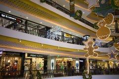 Jul dekorerar område i den centrala festivalen Chiang Mai Arkivbilder