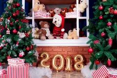 Jul Dog som symbol av det nya året Royaltyfria Foton