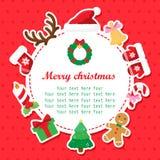 Jul duschar kortet med stället för din text Royaltyfri Fotografi