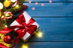 Jul eller gåva för nytt år royaltyfri bild