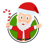 Jul eller Santa Claus logo Arkivbild