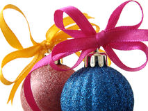 jul för 1 baubles Royaltyfri Fotografi