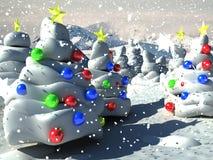 jul för bakgrund 3d stock illustrationer