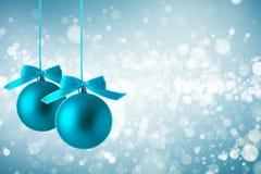 jul för bakgrundsbollblue Royaltyfria Bilder