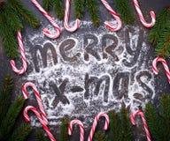 jul för bakgrundsgodisrotting Arkivbild