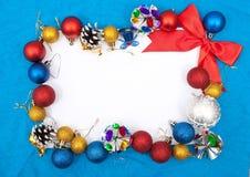 jul för blankt kort som greeting Arkivfoto