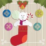 Jul för gåva för nallebjörn Royaltyfria Bilder