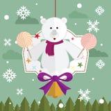 Jul för gåva för nallebjörn Fotografering för Bildbyråer