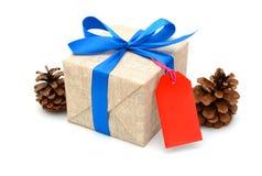 Jul för gåvaask och nya år ask Royaltyfria Foton