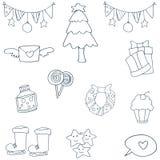 Jul för handattraktionobjekt av klottret Royaltyfri Bild
